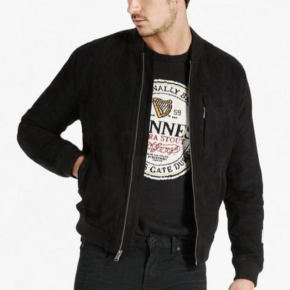 7b564e638 Lucky Brand Suede Bomber Jacket NWT